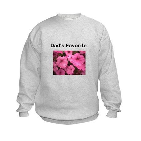 Dads_favorite_pink_petunia Kids Sweatshirt