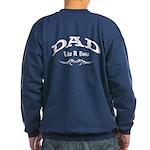 Dad Like A Boss BACK Sweatshirt (dark)