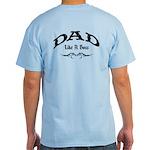 Dad Like A Boss BACK Light T-Shirt