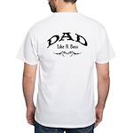 Dad Like A Boss BACK White T-Shirt