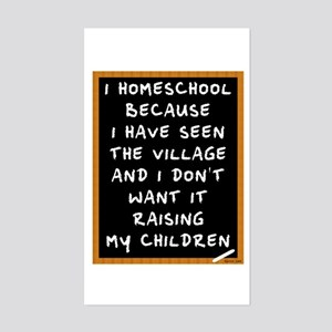 I Homeschool Too Sticker (Rectangle)