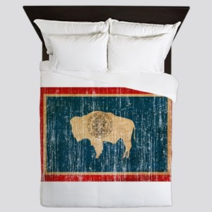 Wyoming Flag Queen Duvet
