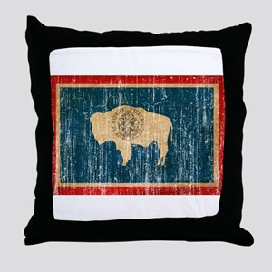 Wyoming Flag Throw Pillow