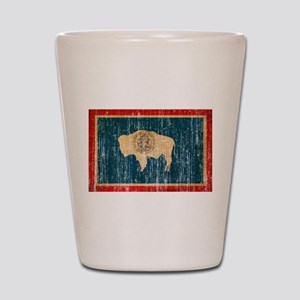 Wyoming Flag Shot Glass