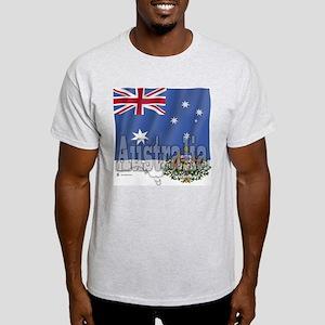 Silky Flag Australia Ash Grey T-Shirt