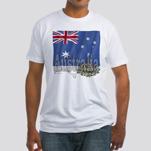 Silky Flag Australia Fitted T-Shirt