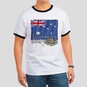 Silky Flag Australia Ringer T
