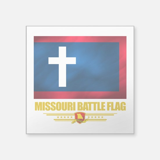 Missouri Battle Flag (flag 10).png Square Sticker