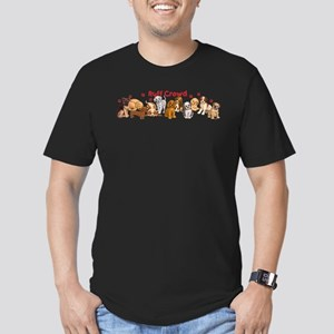 Ruff Crowd Men's Fitted T-Shirt (dark)