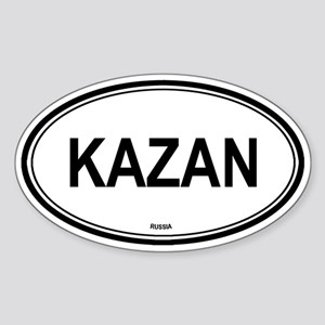 Kazan, Russia euro Oval Sticker