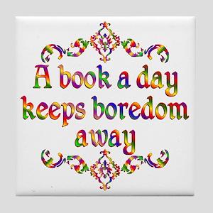 Book a Day Tile Coaster