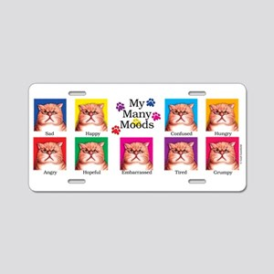 Many Moods Aluminum License Plate