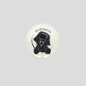 Black Newfie IAAM Mini Button