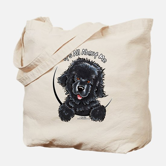 Black Newfie IAAM Tote Bag