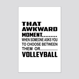 That Awkward Moment... Volleybal Mini Poster Print