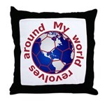 Football Soccer Throw Pillow