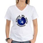 Football Soccer Women's V-Neck T-Shirt