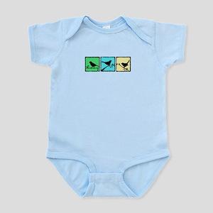 Bird Grunge Silhouette Infant Bodysuit