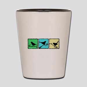 Bird Grunge Silhouette Shot Glass
