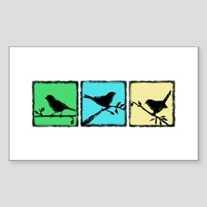 Bird Grunge Silhouette Sticker (Rectangle)