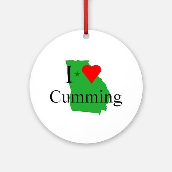 I Love Cumming Ornament (Round)