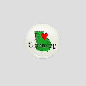 I Love Cumming Mini Button