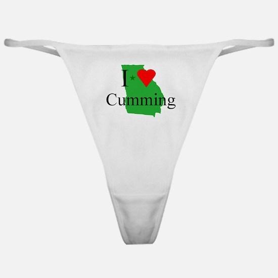 I Love Cumming Classic Thong