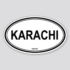 Karachi, Pakistan euro Oval Sticker