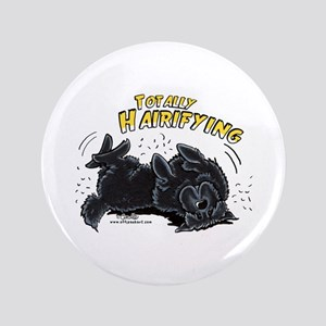 """Black Newfie Totally Hairifying 3.5"""" Button"""