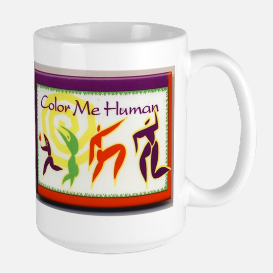 Color Me Human Large Mug