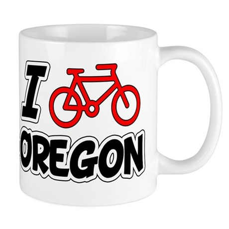 I Love Cycling Oregon Mug