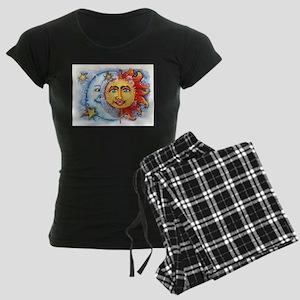 Celestial Sun and Moon Women's Dark Pajamas