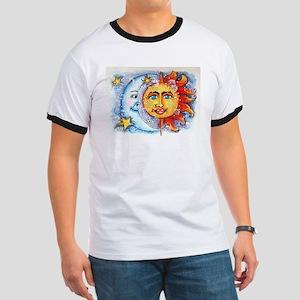 Celestial Sun and Moon Ringer T