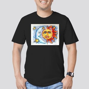 Celestial Sun and Moon Men's Fitted T-Shirt (dark)
