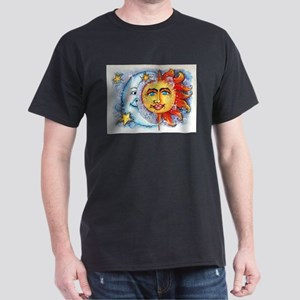 Celestial Sun and Moon Dark T-Shirt