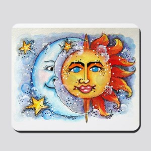 Celestial Sun and Moon Mousepad