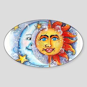 Celestial Sun and Moon Sticker (Oval)