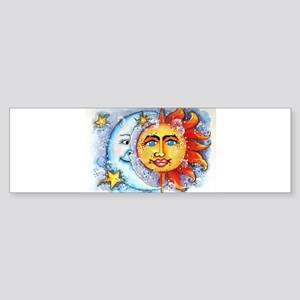 Celestial Sun and Moon Sticker (Bumper)
