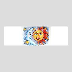 Celestial Sun and Moon 36x11 Wall Decal