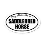 American Saddlebred Horse Oval Car Magnet