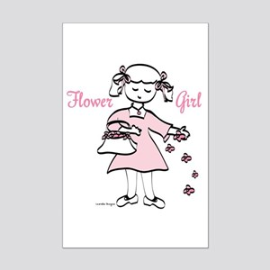 Flower Girl Pretty in Pink Mini Poster Print