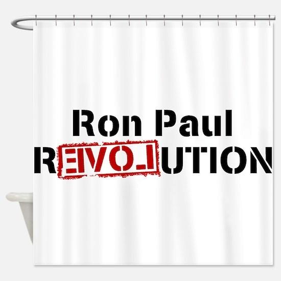 ronpaulrevolution Shower Curtain