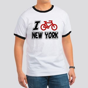 I Love Cycling New York Ringer T