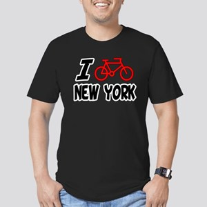 I Love Cycling New York Men's Fitted T-Shirt (dark
