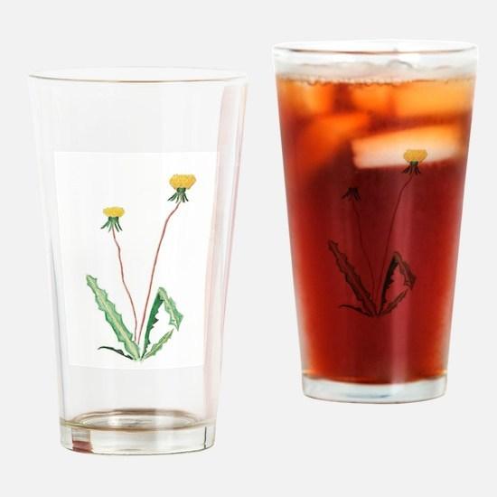 Cute Dandelion Drinking Glass