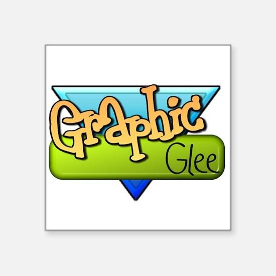 """Graphic Glee Square Sticker 3"""" x 3"""""""