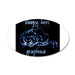 sleepyLionLogoNeg900x Wall Decal