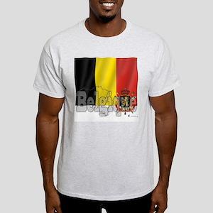 Silky Flag of Belgique Ash Grey T-Shirt