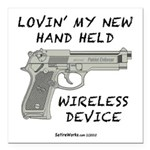 """Wireless Device Square Car Magnet 3"""" x 3&quot"""