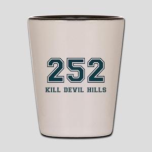 Kill Devil Hills Area Code Shot Glass